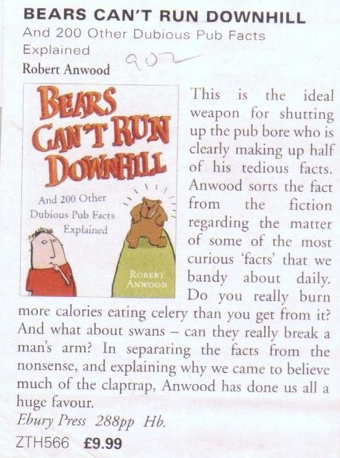 Good Book Guide - review of Bears Can't Run Downhill