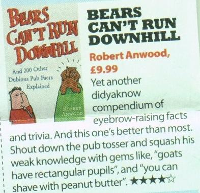 Zoo magazine - review of Bears Can't Run Downhill