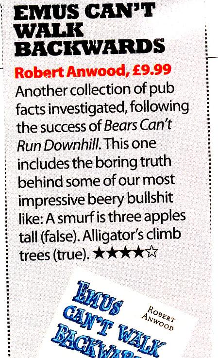Zoo magazine review of Emus Can't Walk Backwards
