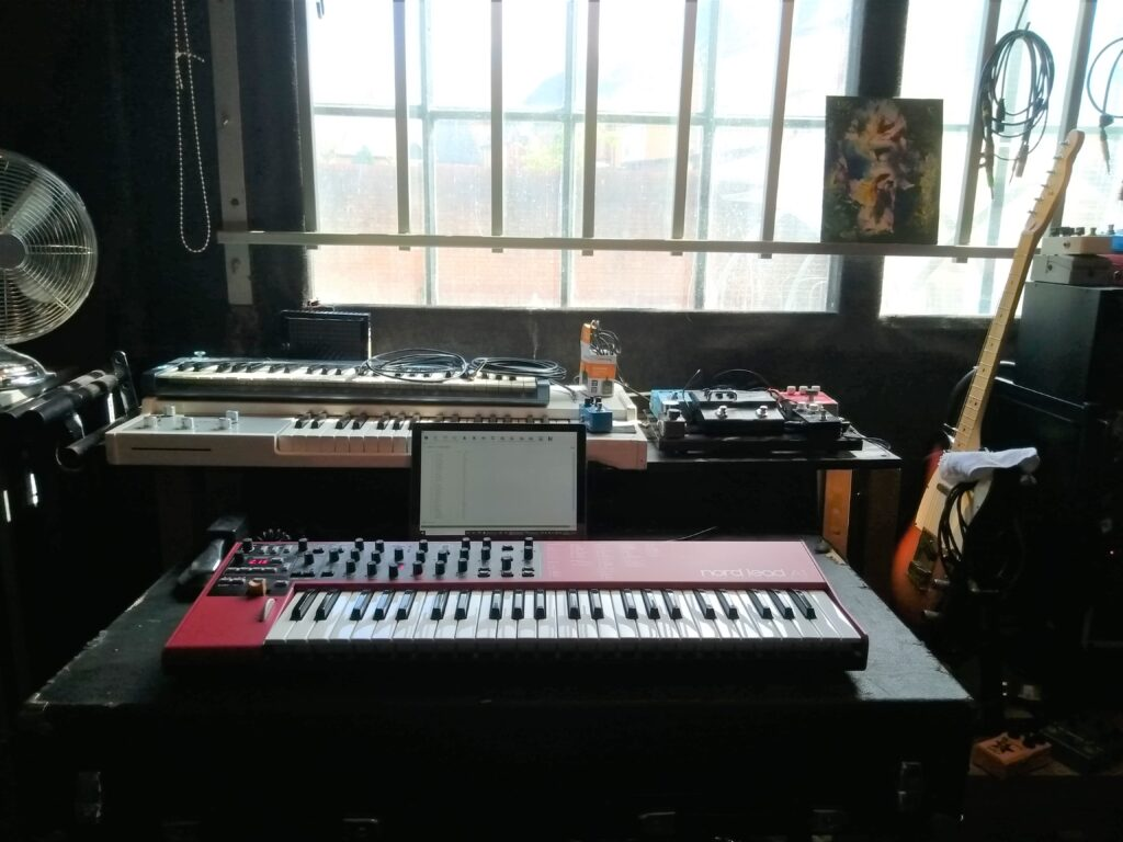 Keyboards at Safehouse Studio