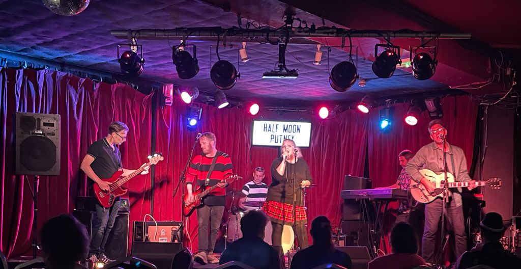 Jody and the Jerms on stage at the Half Moon, Putney